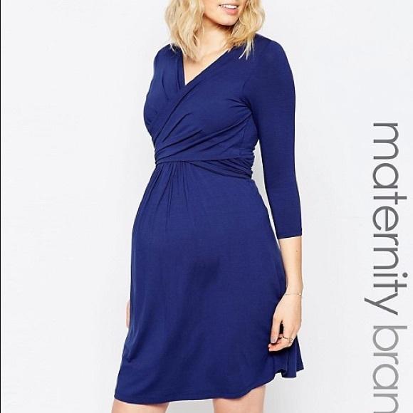 4dfdad54aab Isabella Oliver Dresses   Skirts - Isabella Oliver Navy Blue Wrap Maternity  Dress